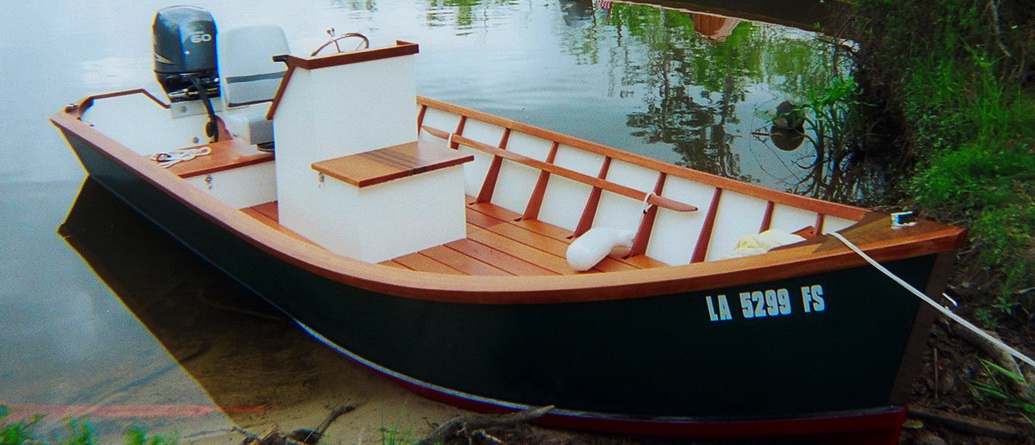 The skiff was often over 20 feet in length, four to five feet in beam ...